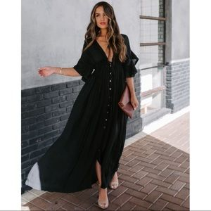 Jaclyn pocketed button down maxi